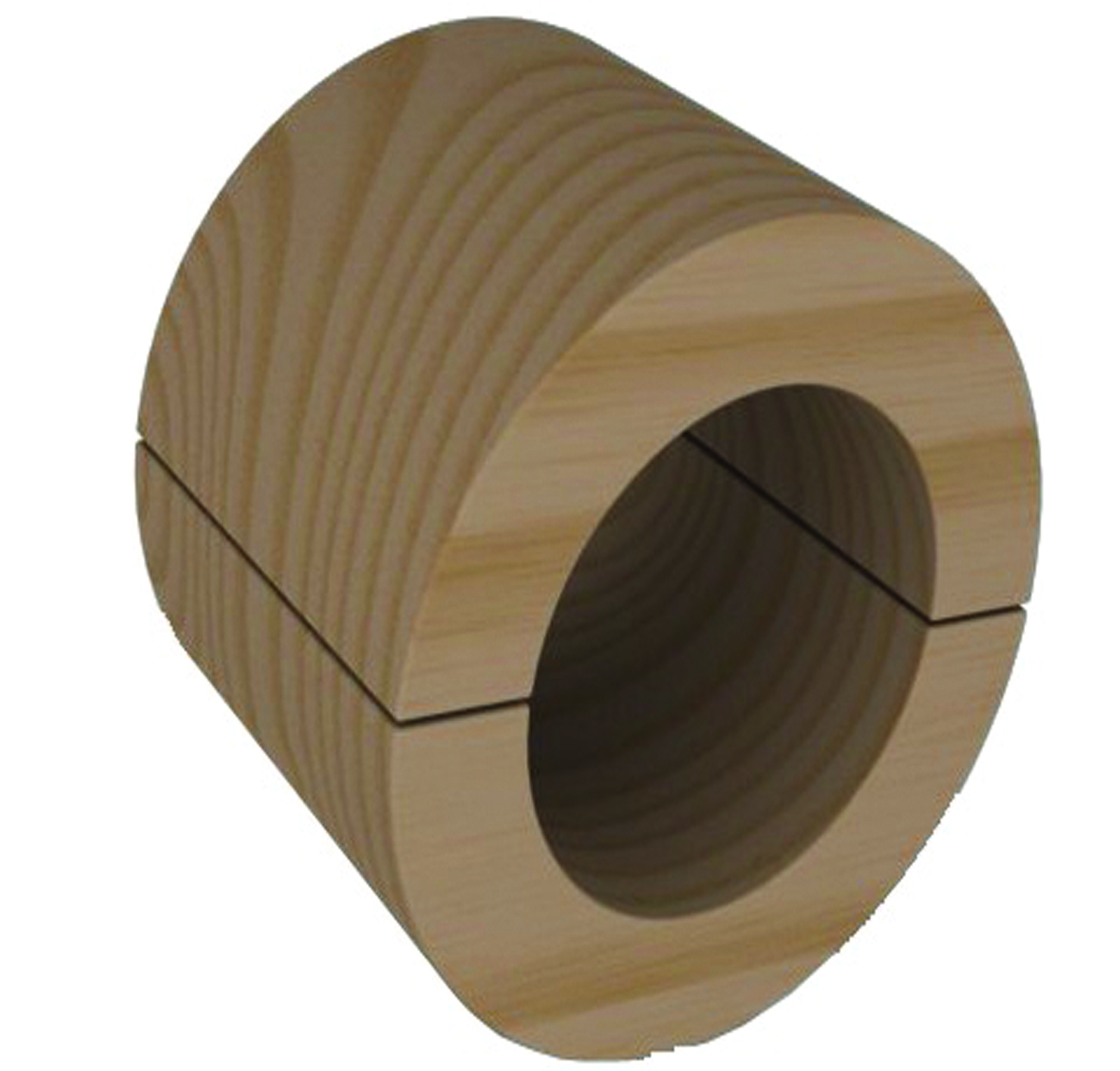 Hard Wood Pipe Support